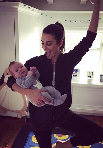 Lea Michele Instagram: Tyler Jacobs Miri Black Burnout Sweatshirt