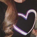 Nicole Lapin Instagram — Carven Heart Sweatshirt Dress
