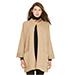 Polo Ralph Lauren Leather-Trim Cardigan Cape in Camel