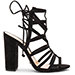 black suede Schutz Loriana shoes
