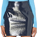 Versace Faux Leather Skirt