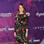 Emma Stone in Gucci Floral Snake Dress at 2nd Annual StyleMakers Awards — November 17, 2016