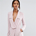 Lavish Alice Wrap Front Tailored Romper with Metal Detail