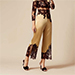 Agent Provocateur Nayeli Gold And Black Lace Trousers