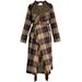 Chloé Fringed Tartan Coat