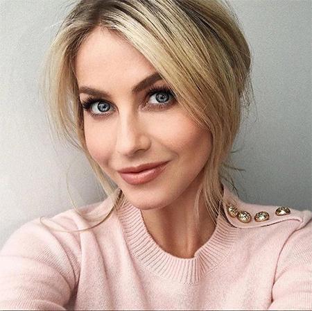 Julianne Hough Burberry Blossom Embellished Cashmere Sweater (Instagram December 12, 2016)