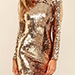 Lulus Lola Gold Sequin Dress
