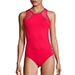 Melissa Odabash Mesh Inset Swimsuit in Red