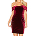 Nicholas Bordeaux Velvet Off-The-Shoulder Dress