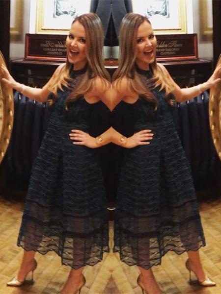 Nicole Lapin, Jonathan Simkhai Embroidered Lace Midi Dress (Instagram Jan 26, 2017)