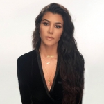 Kourtney Kardashian in AS by DF Callie Velvet Tuxedo Blazer (Instagram January 10, 2017)