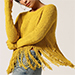 ALC Sunflower Fringe Hem Sweater