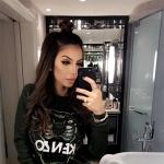 Faryal Makhdoom, Kenzo Tiger Sweatshirt (Snapchat, Feb 2017)