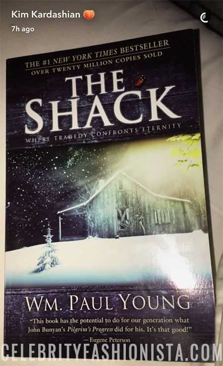 Kim Kardashian book club - The Shack: Where Tragedy Confronts Eternity by William P. Young (Snapchat, Feb 16 2017)