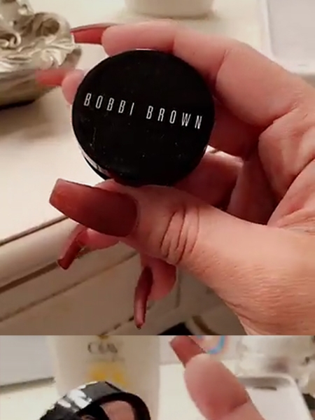 Scheana Marie, Bobbi Brown Corrector Concealer in Light Peach (Snapchat, Jan 31 2017)