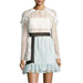 Self-Portrait Frill-Trim Paneled Lace Dress