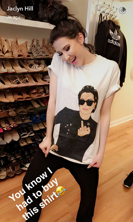 Jaclyn Hill Snapchat - Kylie Jenner Kris Attitude Tee