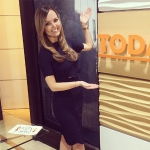 Nicole Lapin in Alexander McQueen Knit Crop Top and Embossed Knit Skirt on The Today Show (Instagram March 6, 2017)