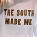 2nostalgik The South Made Me crop tank top