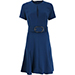 Stella McCartney Etta Belted Keyhole Dress - Navy