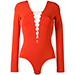 T By Alexander Wang Lace Front Bodysuit, Red