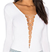 T By Alexander Wang Lace-up bodysuit, White