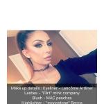 Faryal Makhdoom Makeup Details Snapchat Mar 20, 2017