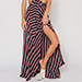 Flynn Skye Chevron Stripe Slit Skirt