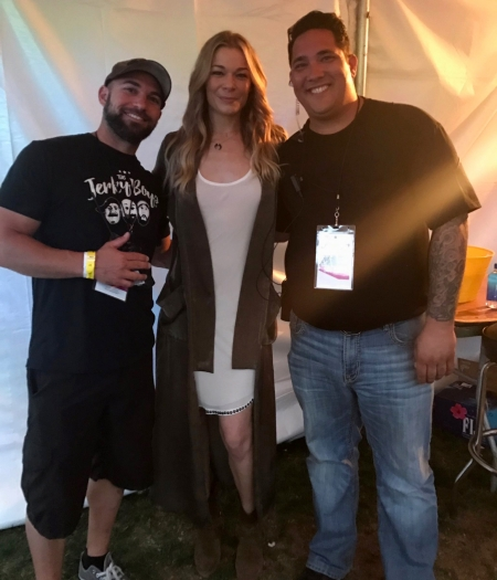 LeAnn Rimes wearing Isabel Marant dress and booties at Scottsdale AZ Culinary Festival 2017 on April 9, 2017
