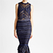 Jonathan Simkhai Lace Midi Dress in Blue