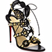 Christian Louboutin Kaleikita Studded Leather Lace-up Sandals