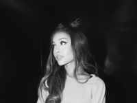 Ariana Grande wears a The Sweetest Language Mack Diva Senorita crewneck sweatshirt in a Instagram pic posted on July 16, 2017.