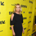 """Charlize Theron wore a 2016 Spring Givenchy Cut Out Drape Sleeve Sheath Dress to the """"Atomic Blonde"""" premiere 2017 SXSW Conference and Festivals on March 12, 2017 in Austin, Texas."""