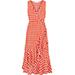 Diane von Furstenberg Ruffled Gingham Stretch-silk Wrap-effect Midi Dress