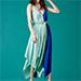 Diane von Furstenberg sleeveless scarf dress in Aqua Klein Blue