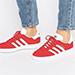 Adidas Originals Red Suede Gazelle Unisex Sneakers