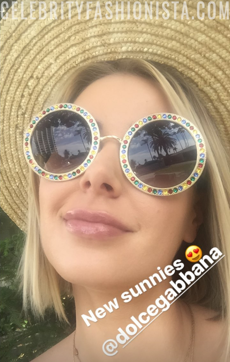12f64c204196 Ariana Madix Instagram Story  Dolce   Gabbana Crystal Sunglasses ...